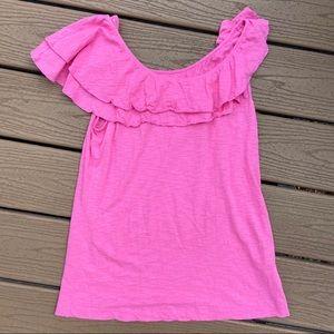 Lilly Pulitzer pima cotton ruffled top